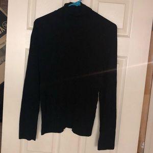 EUC Black CK Ribbed Turtleneck Sweater Sz L